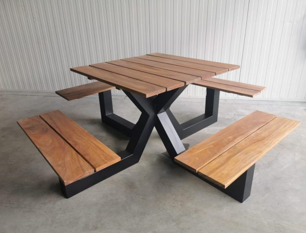 Dark wood table and chairs