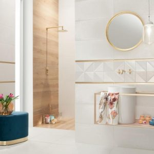 Revali Reflection White Matt Tile